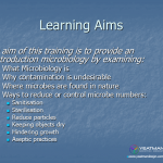 2. Microbiology or the non microbiologist - training aims